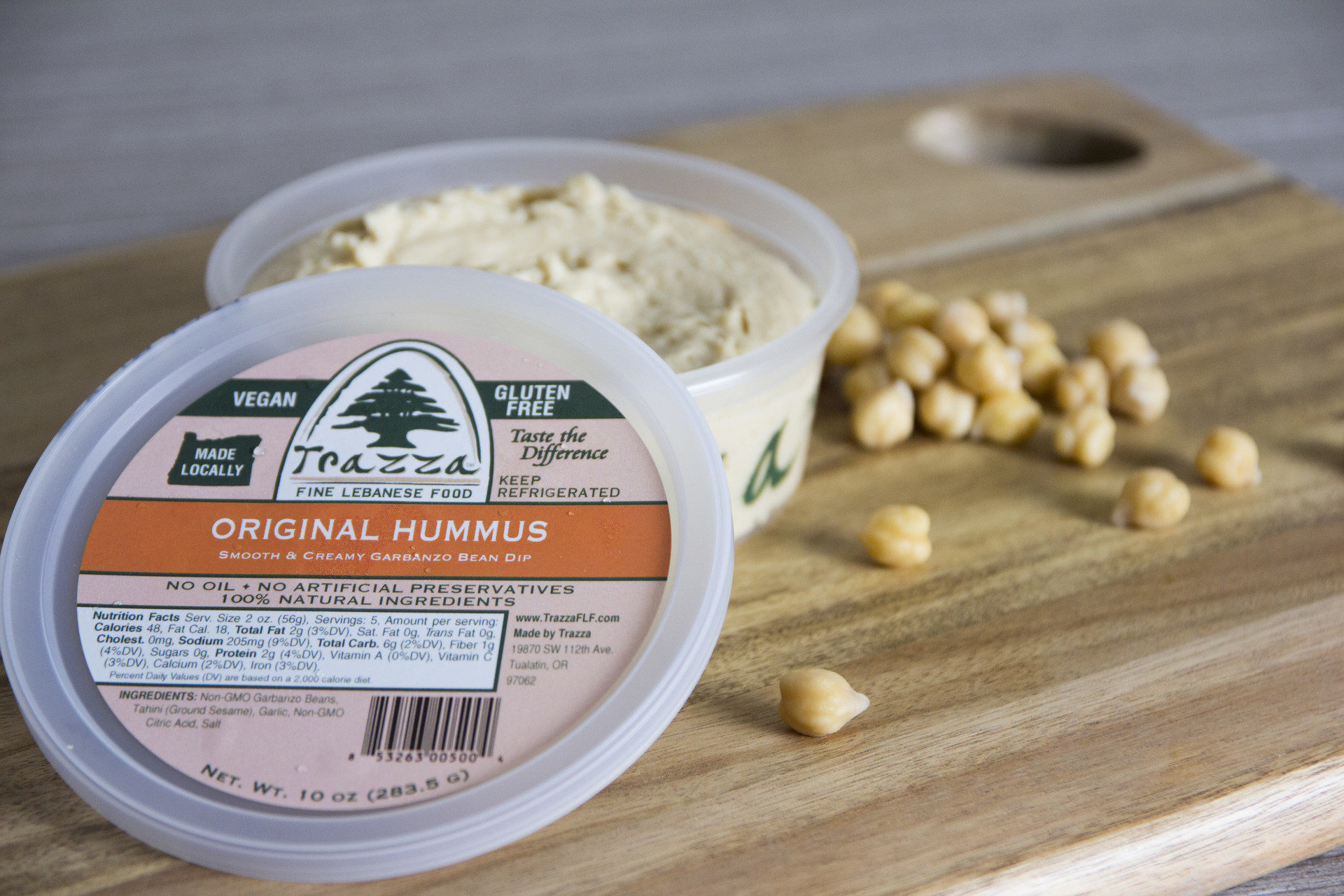 Trazza Hummus - Original Open