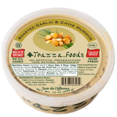Oven Roasted Garlic & Chive Hummus