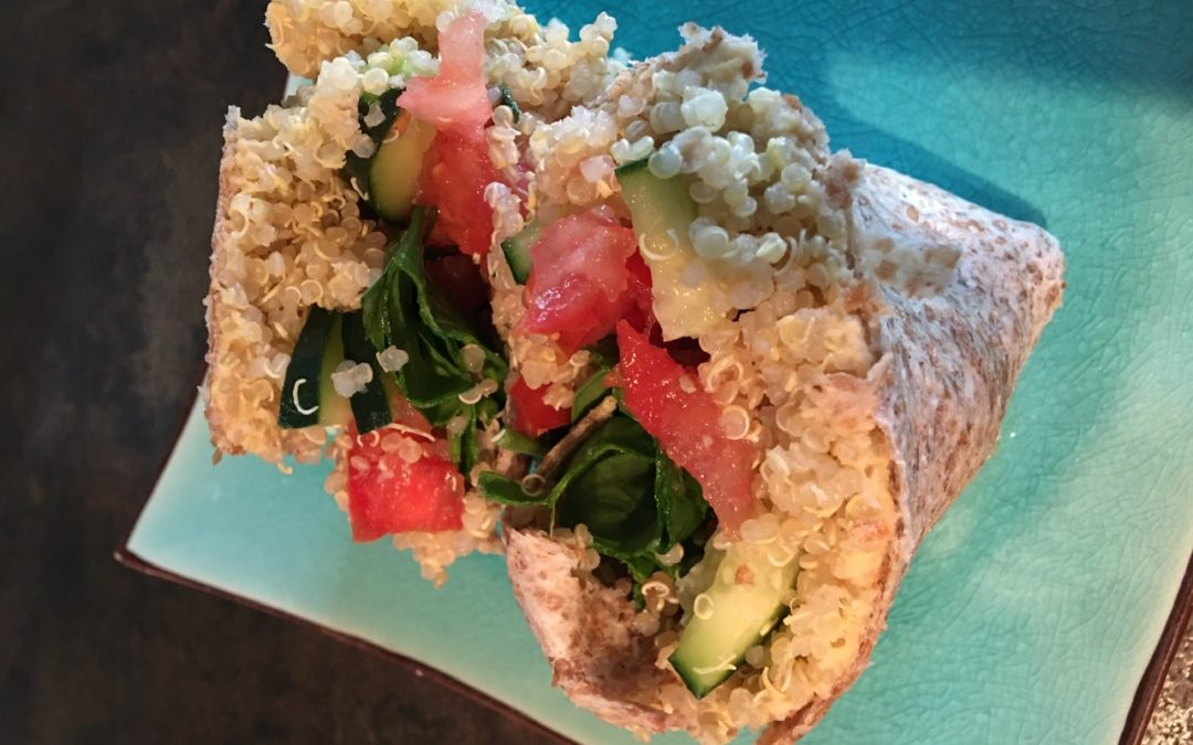 Recipe Contest Winner: Quinoa Hummus Wrap