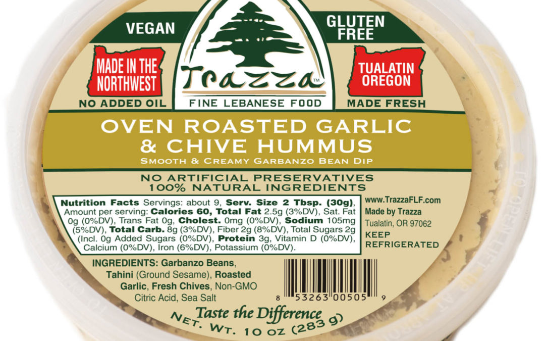 Oven Roasted Garlic & Chive Hummus