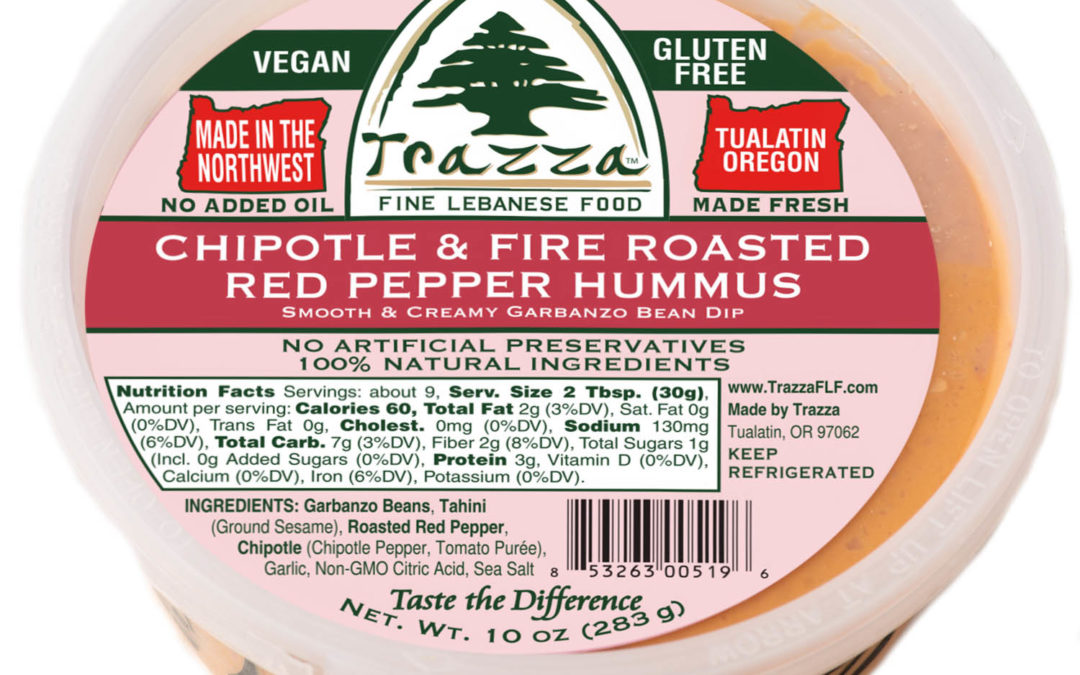 Chipotle & Fire Roasted Red Pepper Hummus