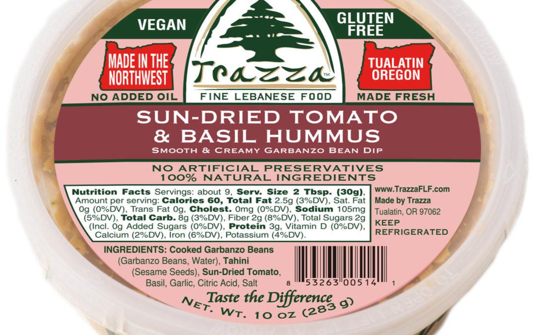 Sun-Dried Tomato & Basil Hummus