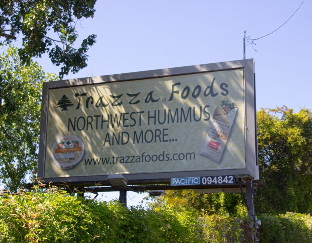 Trazza Foods Billboards Aug 2020