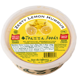 Healthy Vegan Zesty Lemon Hummus